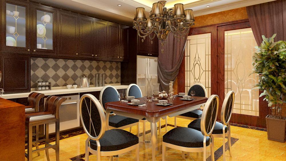 古典欧式 三居室 天峰北苑 高度国际 装修设计 餐厅图片来自高度国际装饰宋增会在天峰北苑 三居室 古典欧式的分享