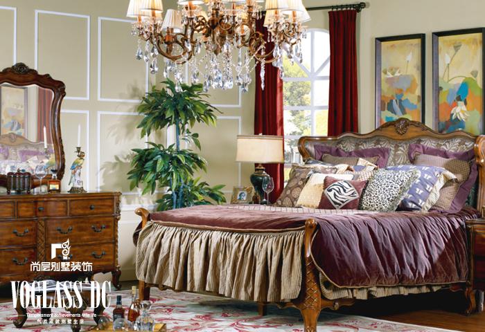 别墅公司 别墅装修 卧室图片来自天津别墅装修在新汇华庭的分享
