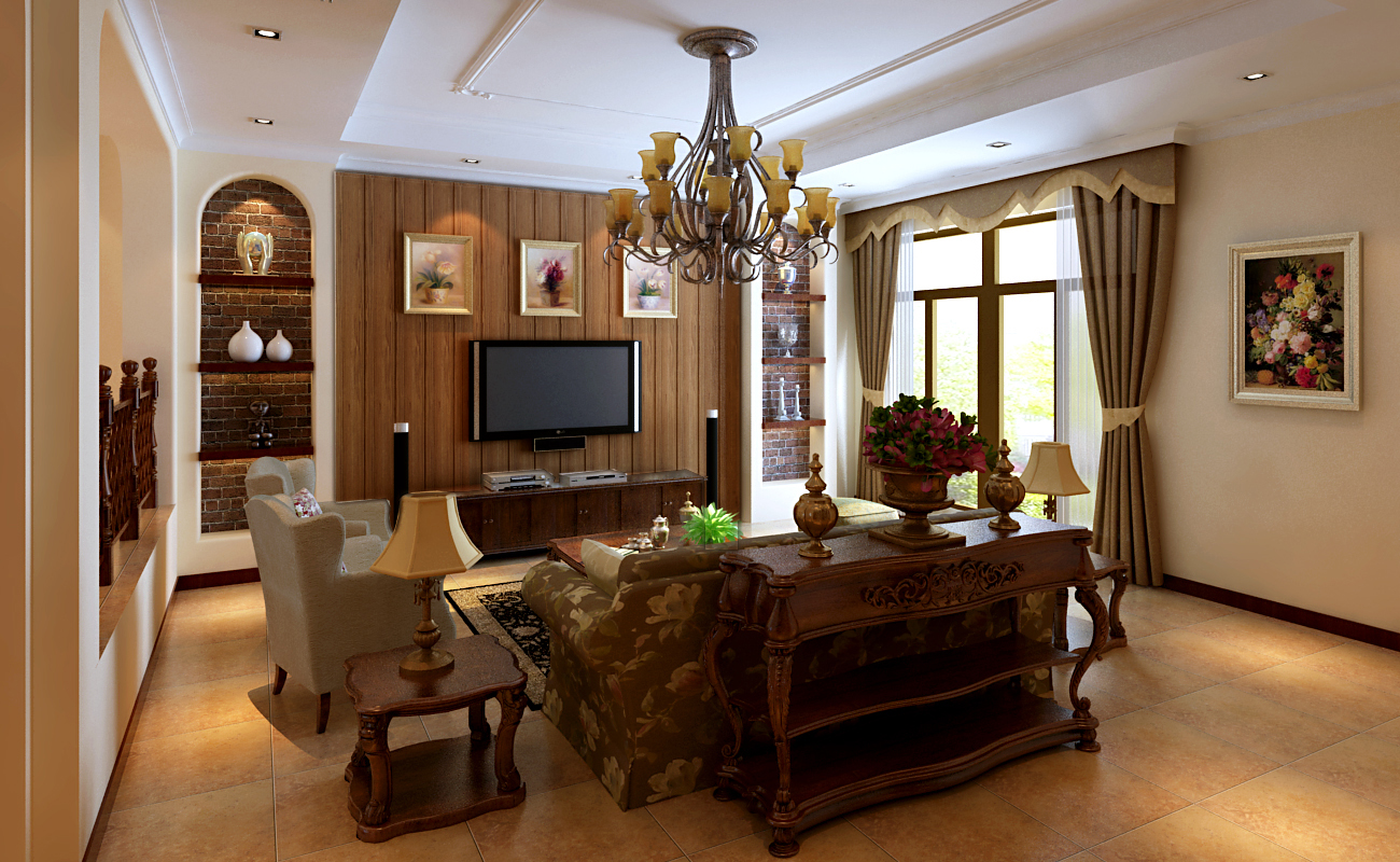欧式 新古典 中间建筑 别墅 客厅图片来自框框在中间建筑联排别墅欧式新古典的分享