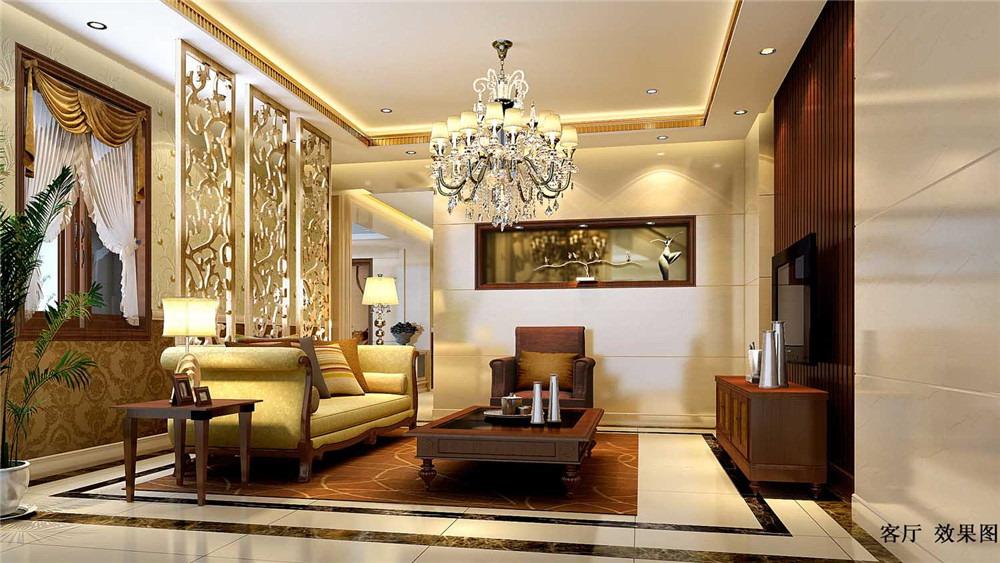 现代中式 别墅 御汤山 高度国际 装修设计 客厅图片来自高度国际装饰宋增会在御汤山 别墅 现代中式的分享