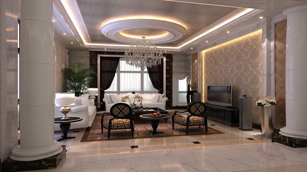 简欧风格 蓝湖君山 别墅 高度国际 装修设计 客厅图片来自高度国际装饰宋增会在蓝湖君山 别墅 简欧风格的分享