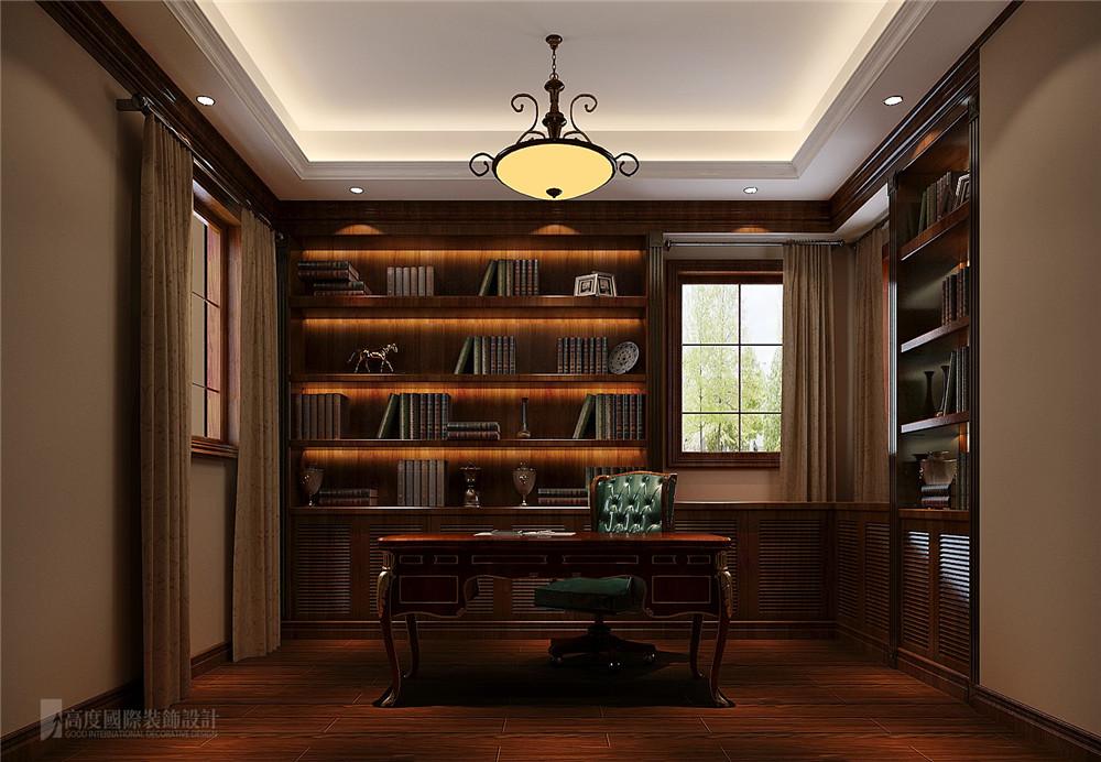 书房 书房图片来自高度国际别墅装饰设计在万万树托斯卡纳风格装修效果图的分享