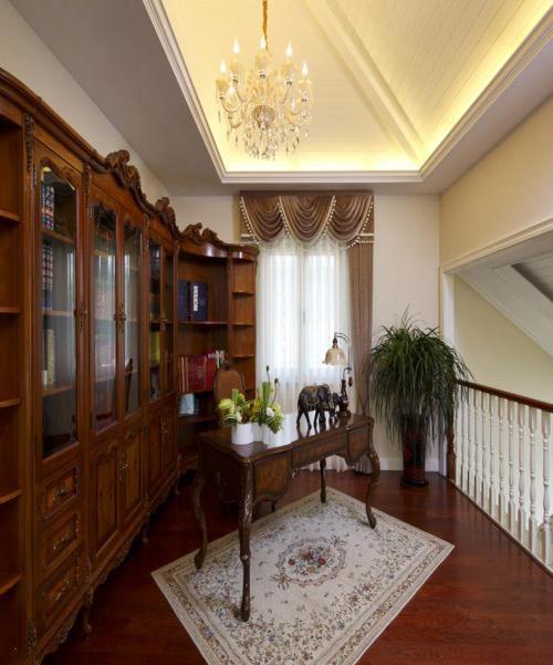 别墅装修 别墅设计 别墅公司 书房图片来自天津别墅装修在大地十二城的分享