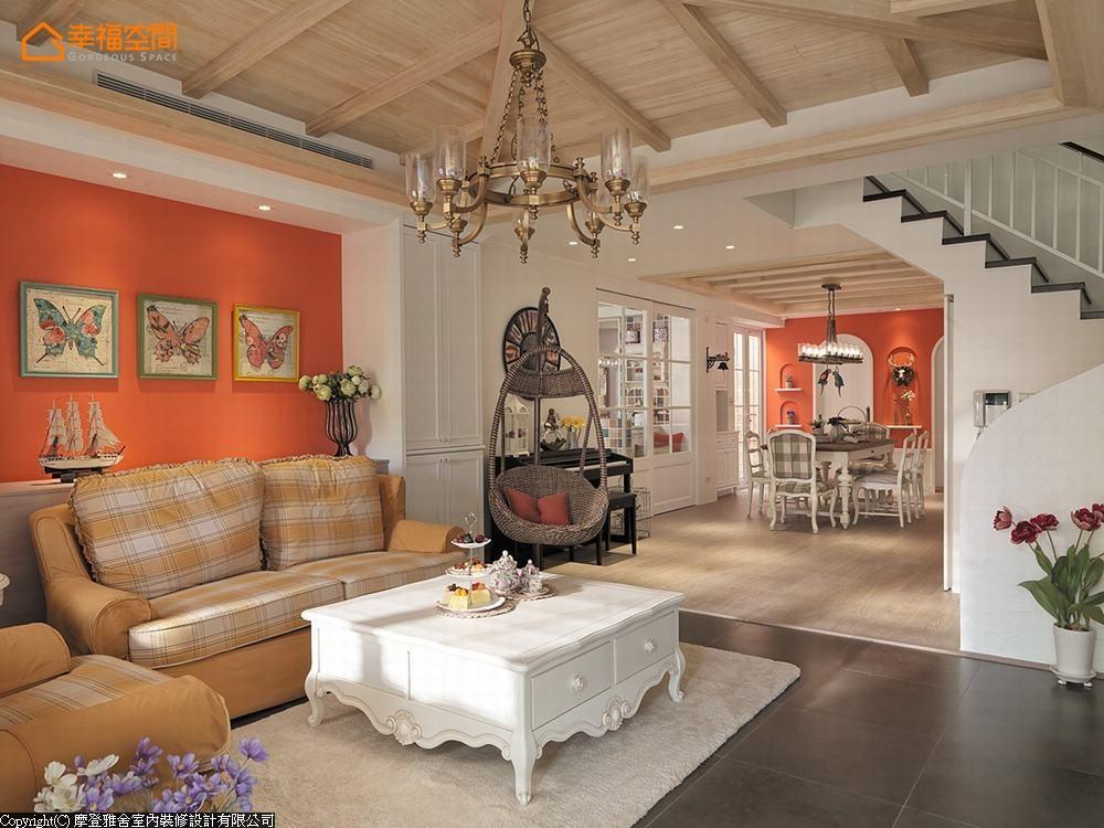 田园 别墅 休闲 旧房改造 三居 客厅图片来自幸福空间在托斯卡尼的阳光 132平别墅乡居的分享
