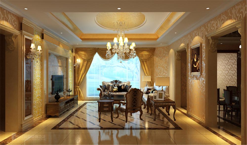 别墅 润泽庄园 设计 案例 效果图 客厅图片来自高度国际别墅装饰设计在润泽庄园的分享