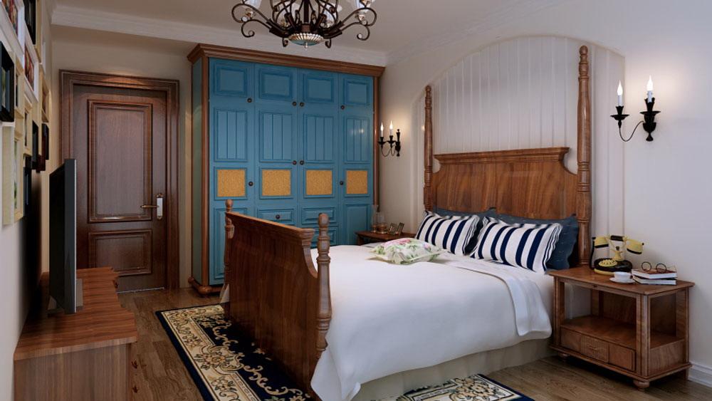 地中海 三居室 万年花城 高度国际 装修设计 卧室图片来自高度国际装饰宋增会在万年花城 三居室 地中海的分享