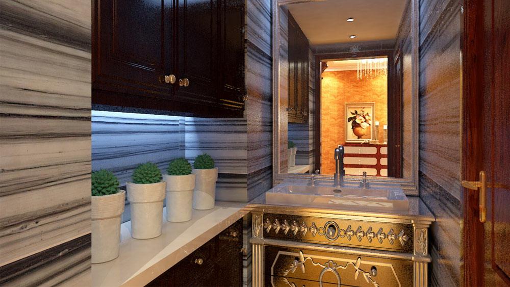 古典欧式 三居室 天峰北苑 高度国际 装修设计 卫生间图片来自高度国际装饰宋增会在天峰北苑 三居室 古典欧式的分享