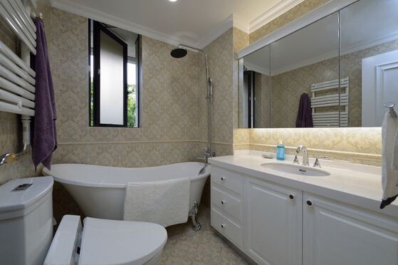 卫生间图片来自佰辰生活装饰在120舒适宜人美式简约3居的分享