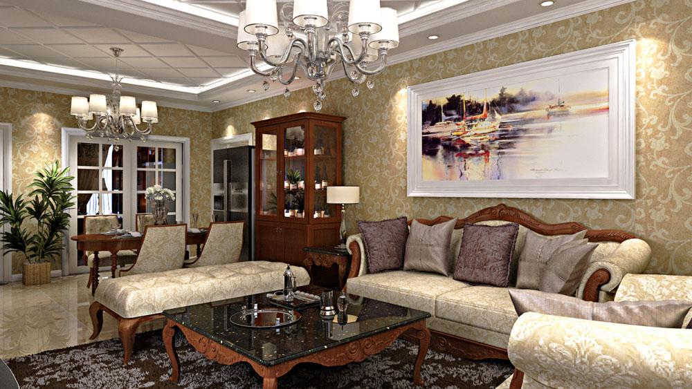 美式风格 三居室 青秀城 高度国际 装修设计 客厅图片来自高度国际装饰宋增会在青秀城 三居室 美式风格的分享