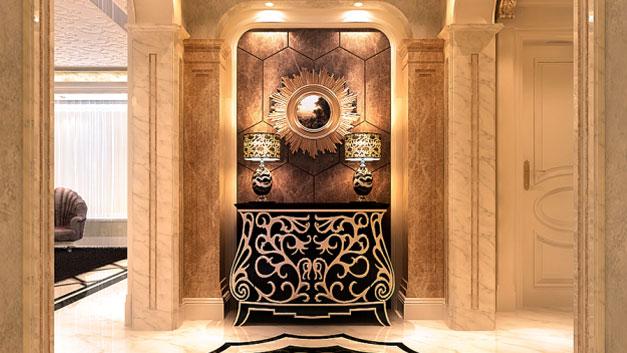 新古典风格 三居室 高度国际 装修设计 高度希文 玄关图片来自高度国际装饰宋增会在龙湖.唐宁ONE 三居室 新古典风格的分享