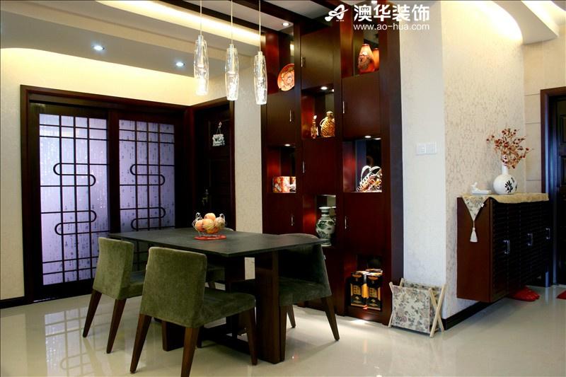 简约 三居 小资 澳华装饰 餐厅图片来自用户5193438255在锦江国际106平米简约主义的温馨的分享