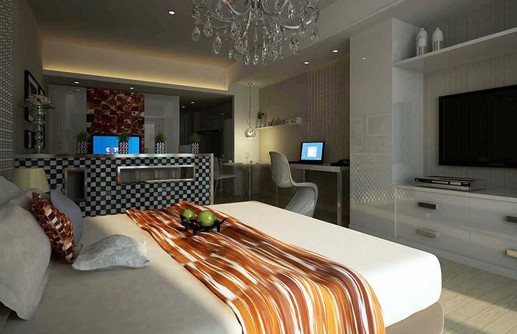 卧室图片来自美巢装饰在瀚海泰苑两室86平现代简约设计的分享