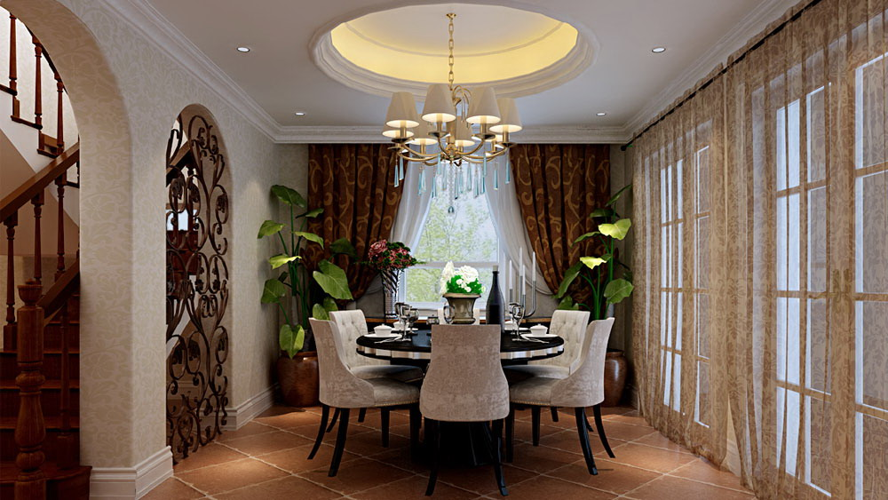 中式风格 别墅 园墅 高度国际 装修设计 餐厅图片来自高度国际装饰宋增会在园墅 别墅 中式风格的分享