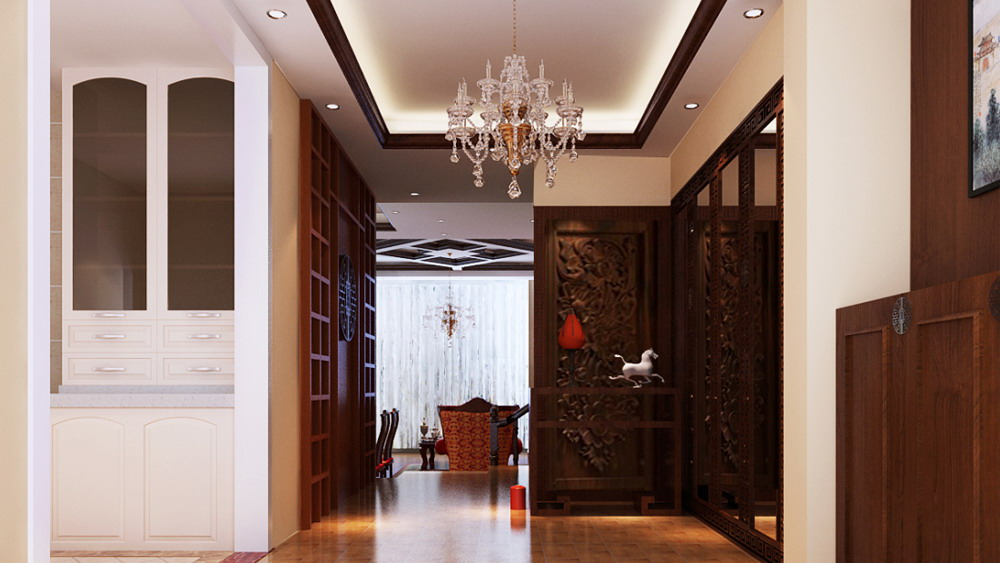 现代简约 三居室 国风尚观 高度国际 装修设计 玄关图片来自高度国际装饰宋增会在国风尚观 三居室 现代简约的分享