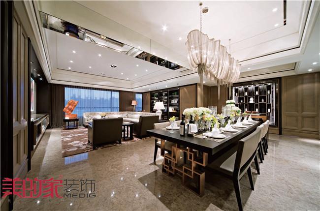 餐厅图片来自重庆美的家装饰谭权在美的家装饰【西西里洋房】的分享