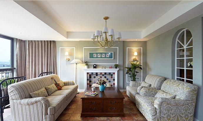 二居 白领 简约 客厅图片来自成都盛世家园装饰在95平米简约美式复古装修案例的分享