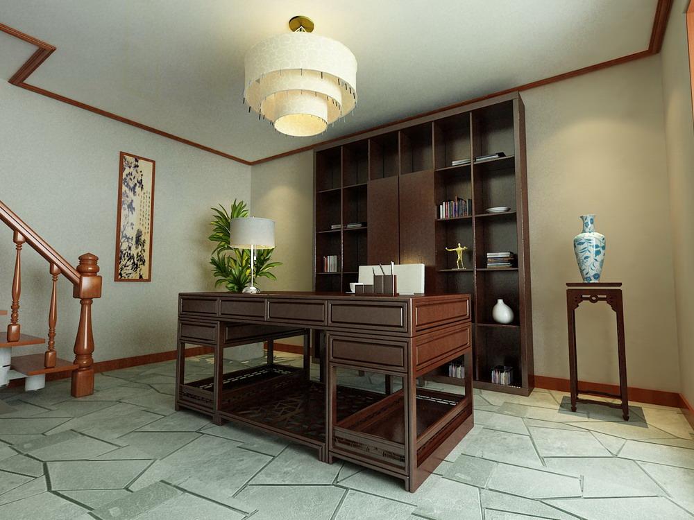 中式风格 长沙路小区 别墅 高度国际 装修设计 书房图片来自高度国际装饰宋增会在长沙路小区 别墅 中式风格的分享