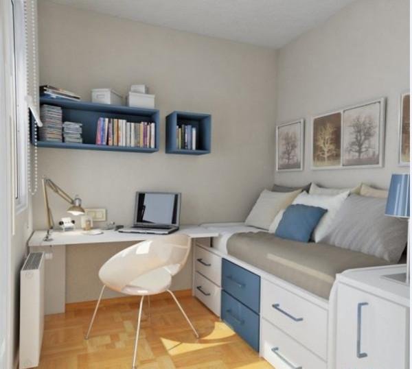 书房区域利用靠窗位置设计成的独立小书房,布局以及整个空间的书房家具都及其简单,但又不缺失整个空间的紧凑感。隔板做成的书桌架,极为便利,同时也不占据空间。安静中带有几分轻松生活的随性。