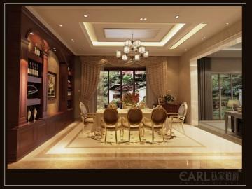 富商家庭大庭院的独栋别墅设计