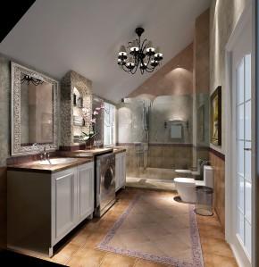 美式 简约 高度国际 金隅翡丽 时尚 二居 白领 80后 白富美 卫生间图片来自北京高度国际装饰设计在金隅翡丽美式两居公寓的分享