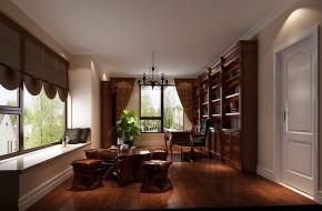 简约 美式 现代 高度国际 时尚 白富美 平层 别墅 白领 书房图片来自北京高度国际装饰设计在10万打造西山壹号院美式平层的分享