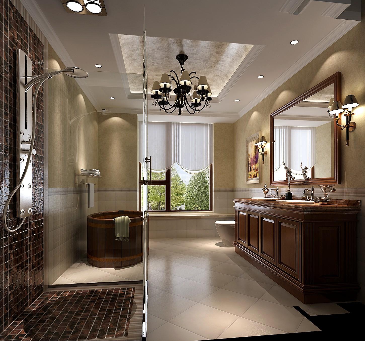 简约 美式 现代 高度国际 时尚 白富美 平层 别墅 白领 卫生间图片来自北京高度国际装饰设计在10万打造西山壹号院美式平层的分享
