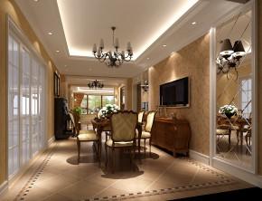 简约 美式 现代 高度国际 时尚 白富美 平层 别墅 白领 餐厅图片来自北京高度国际装饰设计在10万打造西山壹号院美式平层的分享