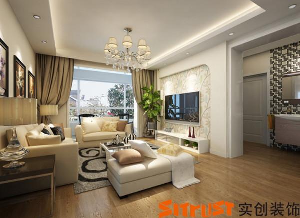 设计理念:在整个的设计过程中,以简约作为基调,客厅的电视墙上采用壁纸和  简单的石膏板造型搭配,勾勒出整个空间更突出简约的大气和时尚。
