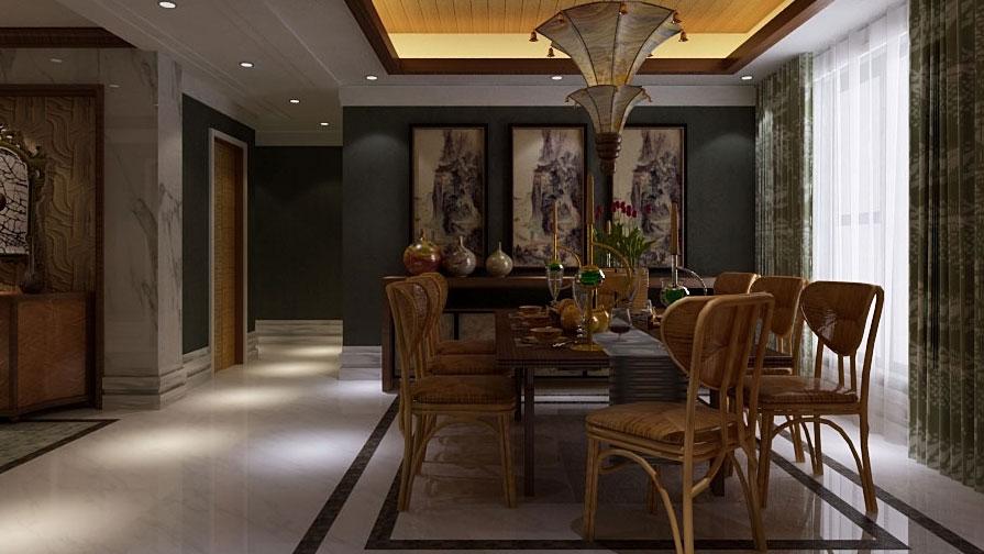 中式 泰式 混搭 二居 三居 别墅 白领 收纳 旧房改造 餐厅图片来自周楠在中信城的混搭风格的分享
