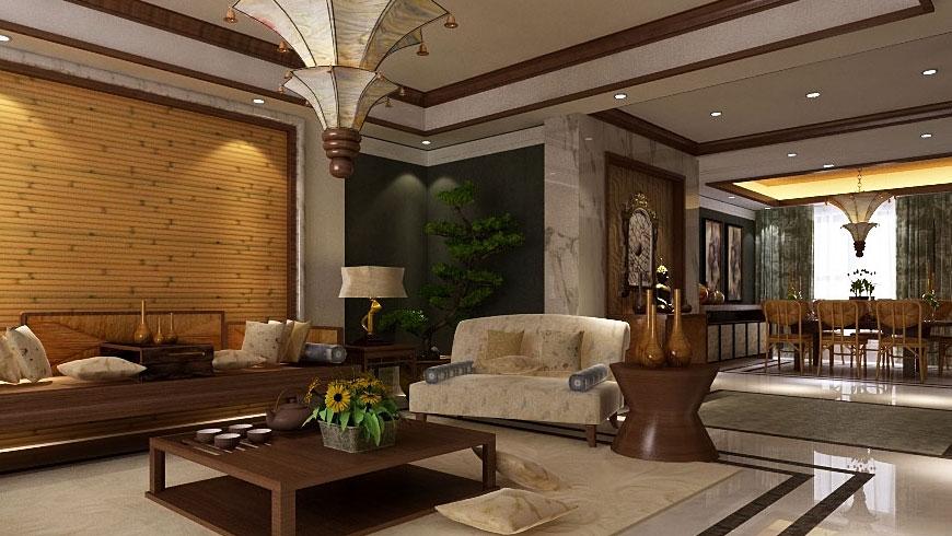 中式 泰式 混搭 二居 三居 别墅 白领 收纳 旧房改造 客厅图片来自周楠在中信城的混搭风格的分享