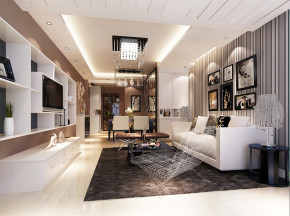 中景江山赋 高度国际 时尚 二居 白领 80后 港式 白富美 婚房 餐厅图片来自北京高度国际装饰设计在中景江山赋96平现代公寓的分享