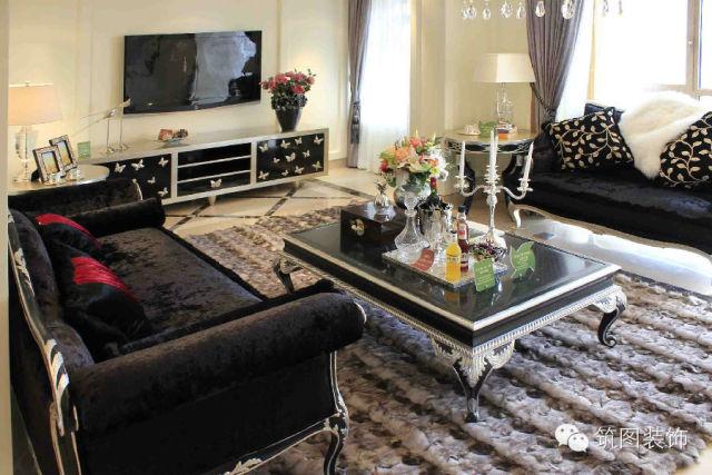 客厅图片来自上海筑图装饰设计工程有限公司在华侨城的分享