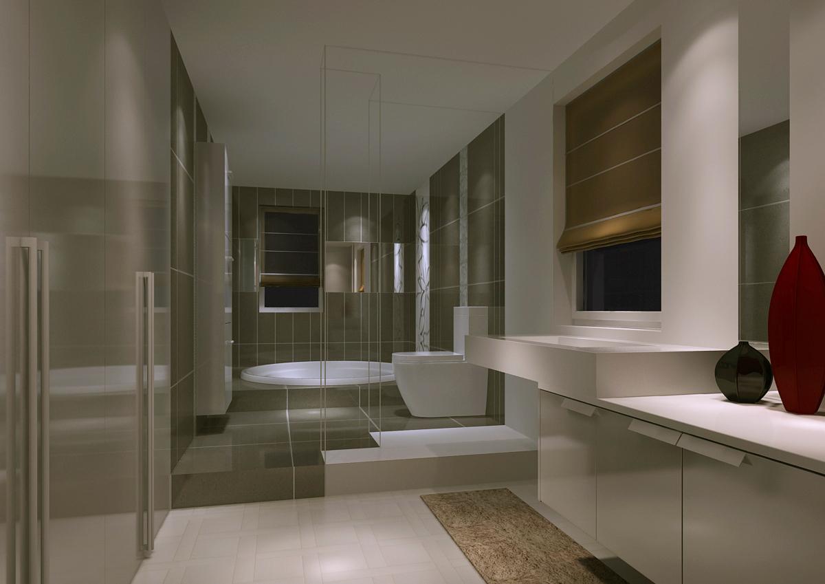 简约 三居 卫生间图片来自今朝装饰老房专线在复式设计,180平,新新小镇的分享