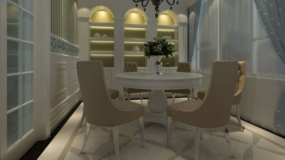 欧式 二居 三居 别墅 白领 收纳 旧房改造 80后 小资 餐厅图片来自周楠在蓝爵东方公馆的分享