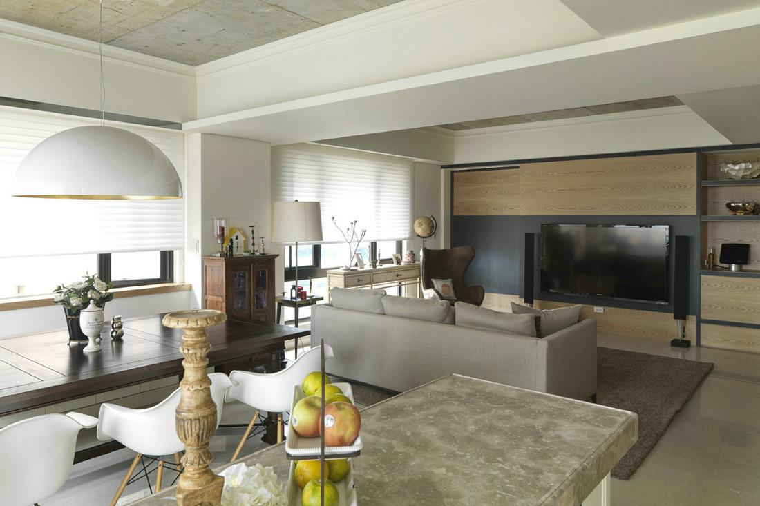 简约 别墅 现代 品界 复式 客厅图片来自石家庄亿佰居装饰在225平实景样板间【现代简约】的分享