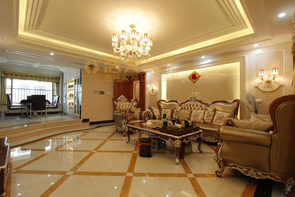 客厅图片来自深圳市浩天装饰在圣莫丽斯的分享