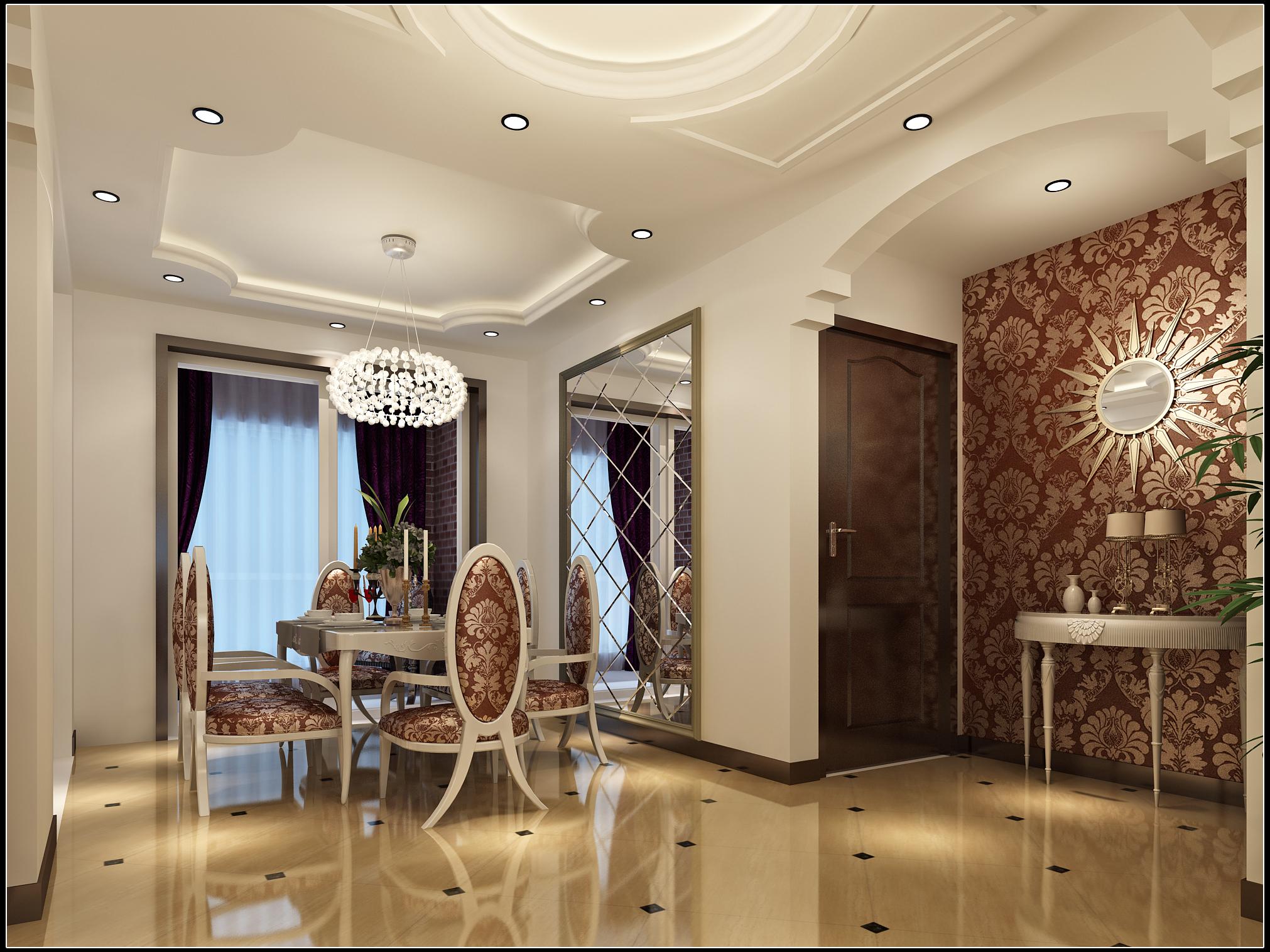 欧式风格 实创装饰 整体家装 欧式效果图 餐厅图片来自北京实创装饰在领秀慧谷3居室158平米温馨家居的分享