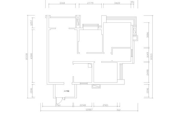 保利拉菲公馆-法式风格-90平米三居室装修-户型图