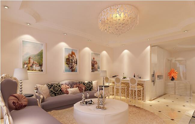 客厅图片来自轻舟装饰-90后的华仔在海淀军区-110平米-简欧风格的分享