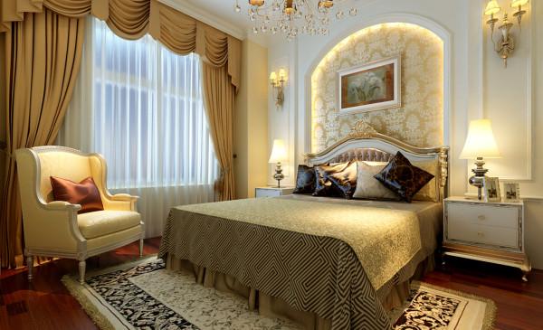 绿地乔治庄园-欧美风情-163平米四居室装修-卧室装修效果图