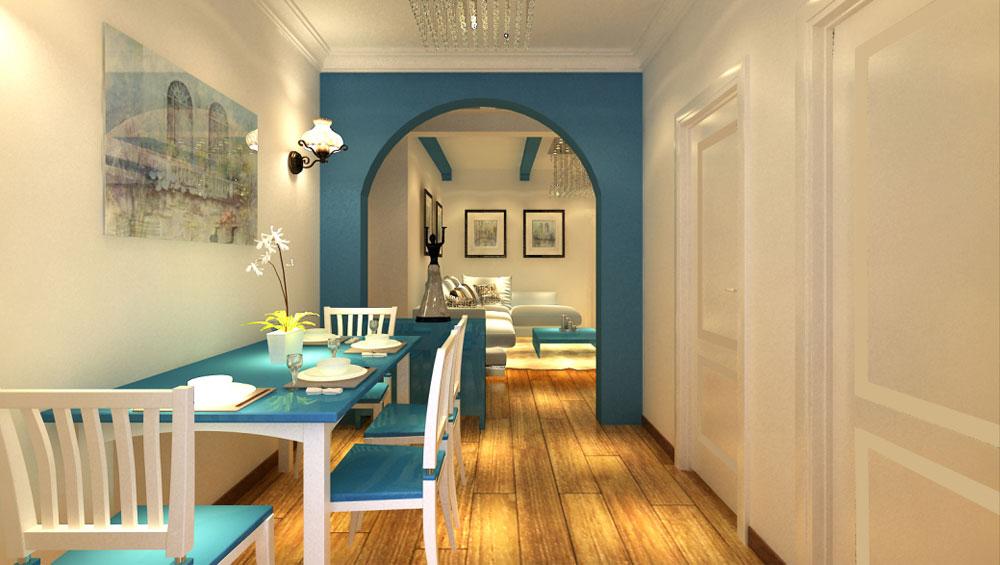 高度国际 诗婷 地中海 三居 餐厅图片来自高度国际装修设计诗婷在通翠景园   140㎡   三居室的分享