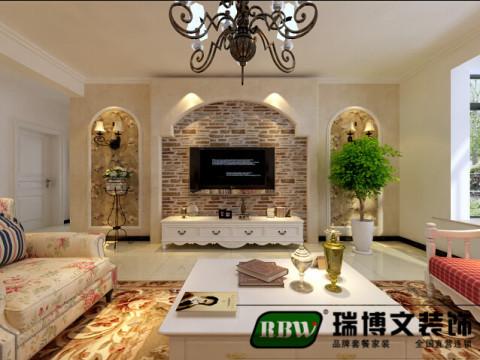 客厅 木褐色的天面瓷砖,搭配上乳白色的墙砖营造出朴实的环境,同样用木褐色图案的瓷砖搭配在墙砖上,纯净安逸,快动手用瓷砖搭配出一个你的田园之家吧!
