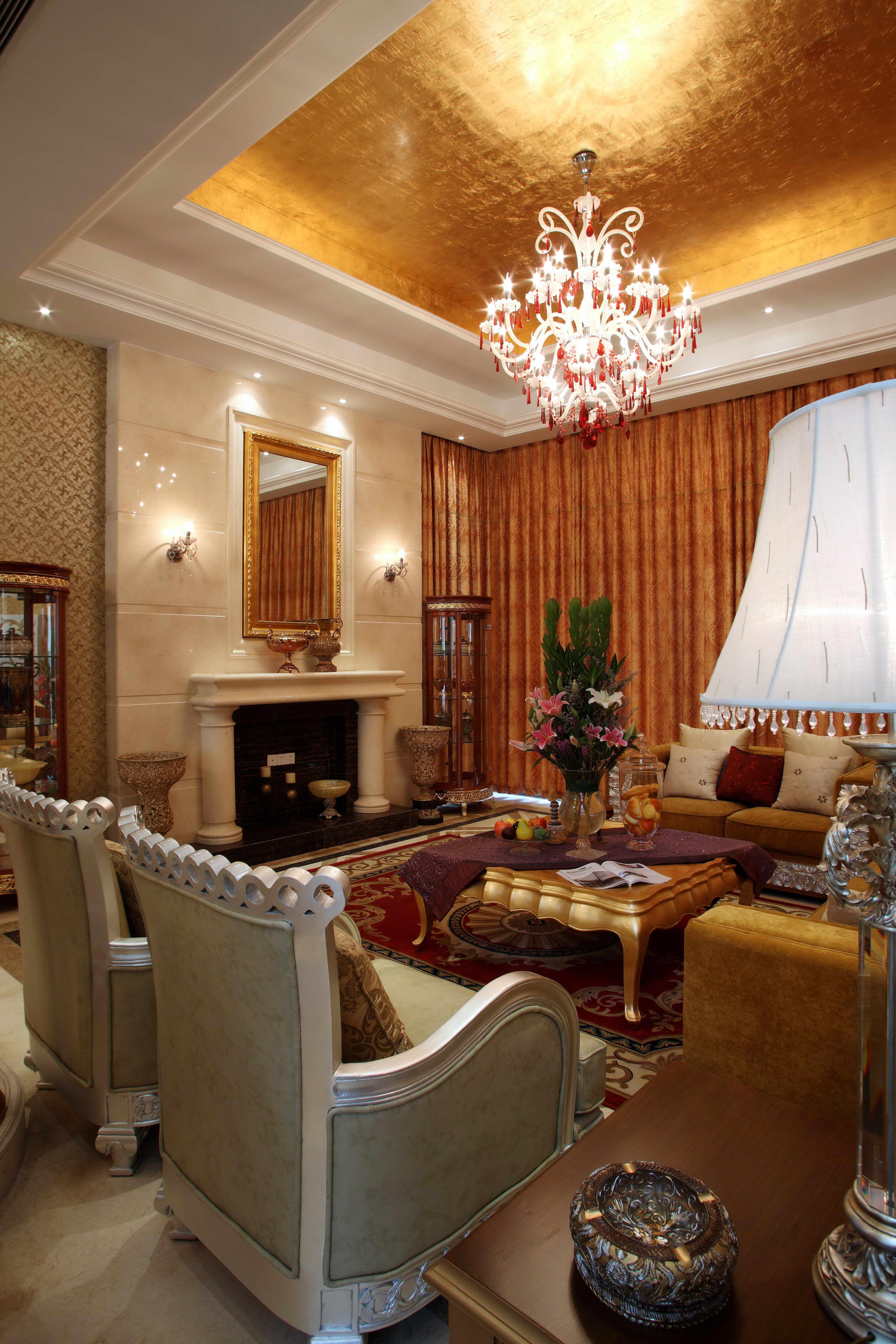 欧式 别墅 客厅图片来自北京今朝装饰刘在京基鹭府别墅的分享