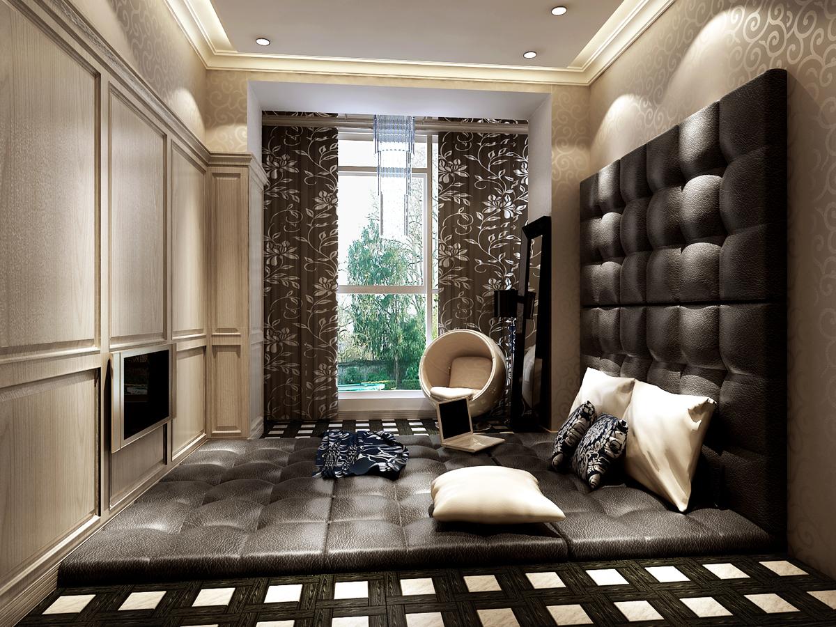 简约 三居 卧室图片来自今朝装饰老房专线在135平,三居,罗马假日的分享