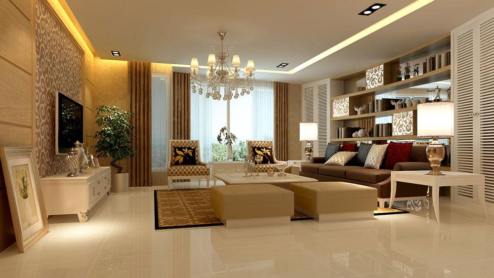 欧式 二居 三居 别墅 白领 收纳 80后 小资 旧房改造 客厅图片来自周楠在旭辉御府欧式风格的分享