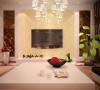 瀚海泰苑88平方两室两厅装修案例,电视背景墙装修效果图