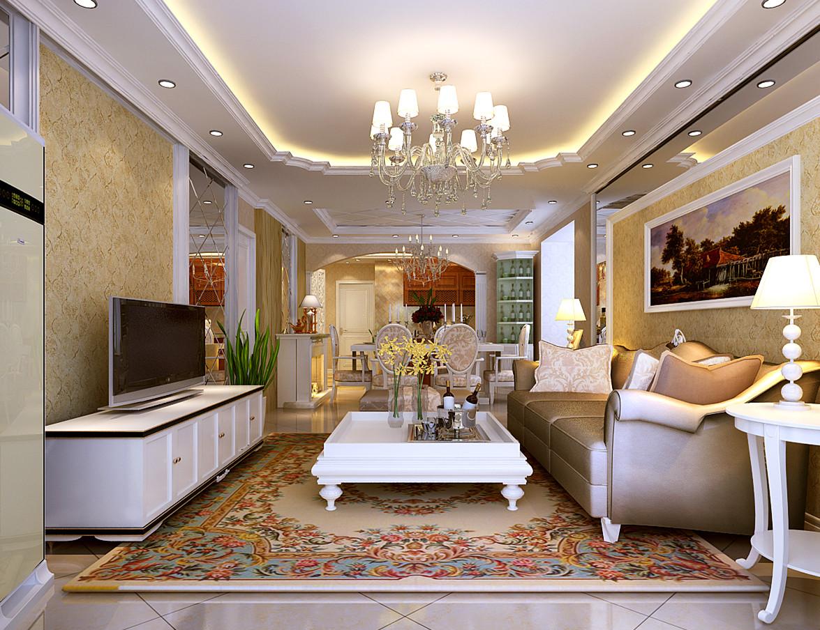 欧式 三居 白领 收纳 80后 小资 客厅图片来自shichuangyizu在高贵气质芭蕾雨悦都120平米的分享