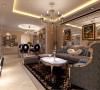 华丽的装饰,精美的造型达到雍容华贵的装饰效果,用大型灯池并用华丽的枝形吊灯营造气氛,布艺沙发组合有着丝绒的质感以及流畅的木质曲线,将传统的欧式家具的奢华与现代家具的实用性完美的结合。