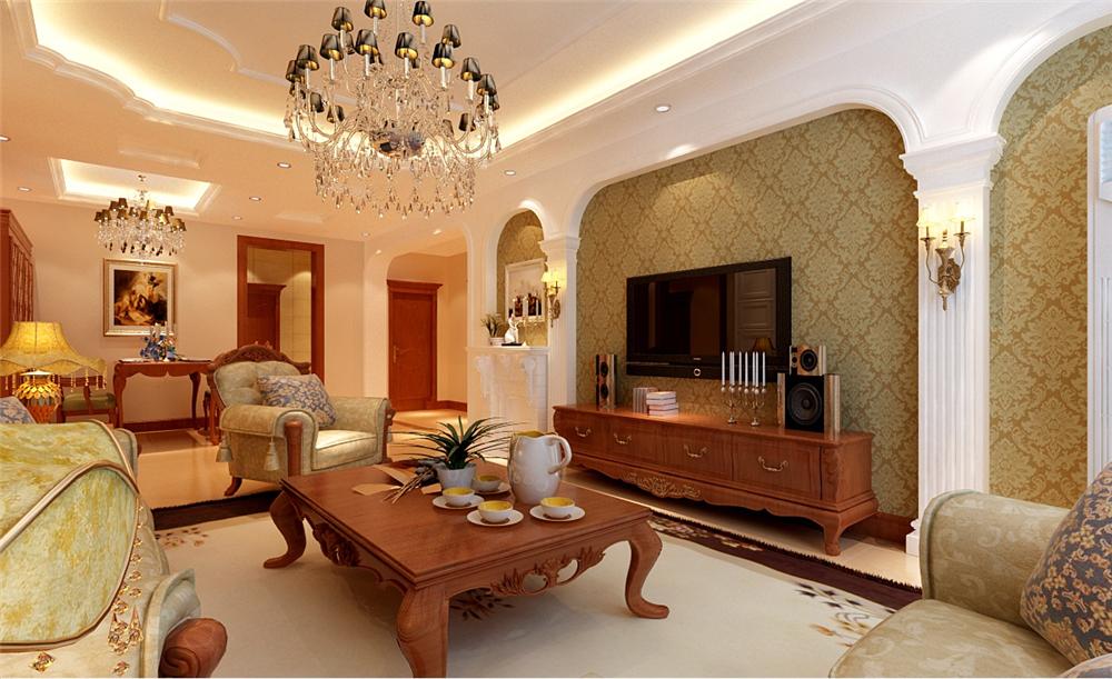 欧式 新古典 混搭 四居室 白领 收纳 80后 小资 客厅图片来自shichuangyizu在301医院玉泉新城四口幸福之家的分享