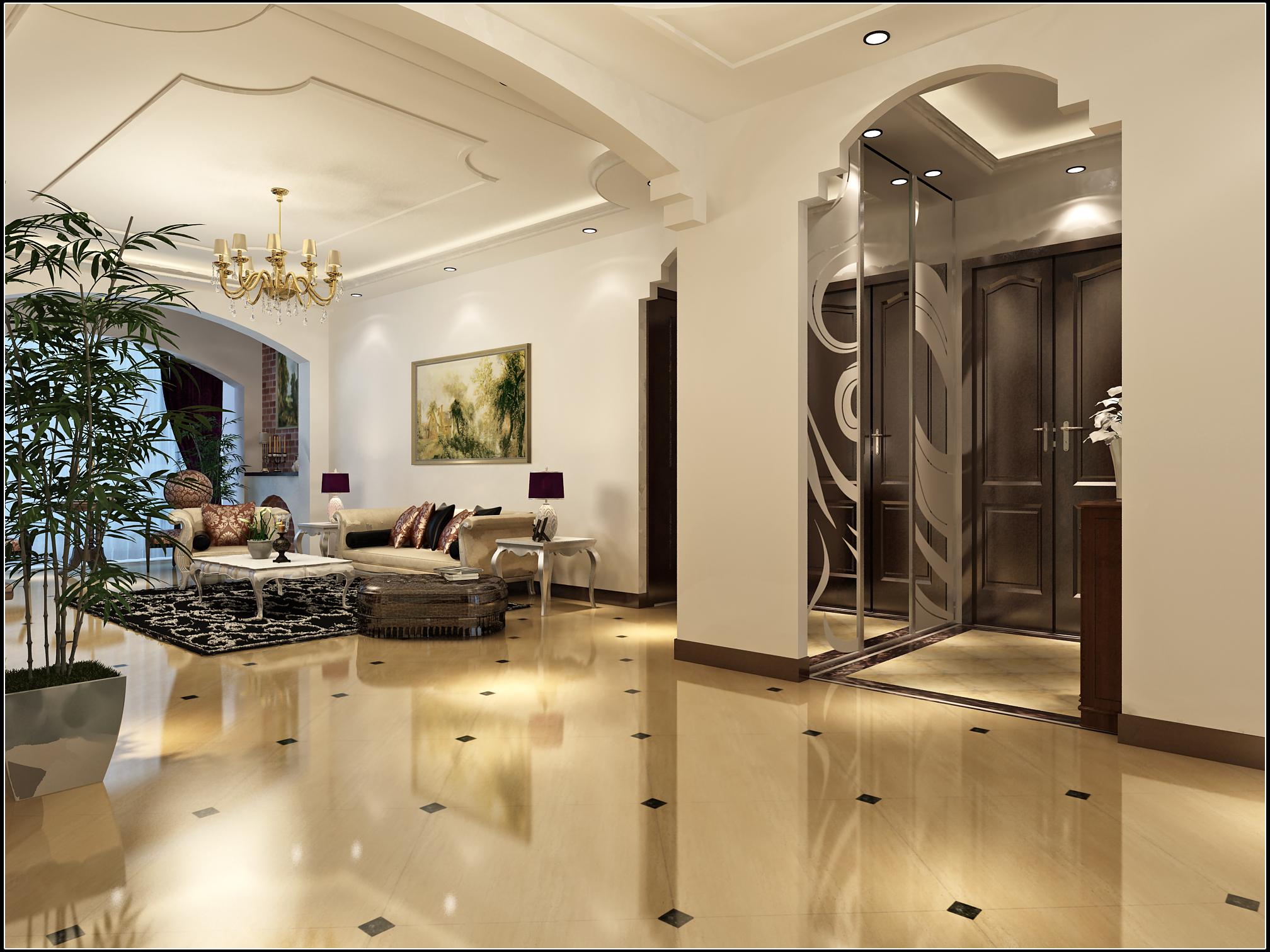 欧式风格 实创装饰 整体家装 欧式效果图 客厅图片来自北京实创装饰在领秀慧谷3居室158平米温馨家居的分享